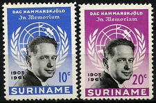 Suriname 1962 SG#500-1 Dag Hammarskjold MNH Set #D34379
