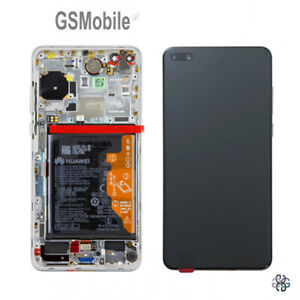 ORIGINAL-Display-Pantalla-LCD-Tactil-Marco-Bateria-Huawei-P40-ANA-N29-Ice-White
