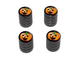 Jack-o-lantern-Pumpkin-Halloween-Tire-Rim-Wheel-Valve-Stem-Caps-Black