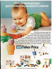 Publicité Advertising 1978 Jeu Jouets Fischer-Price