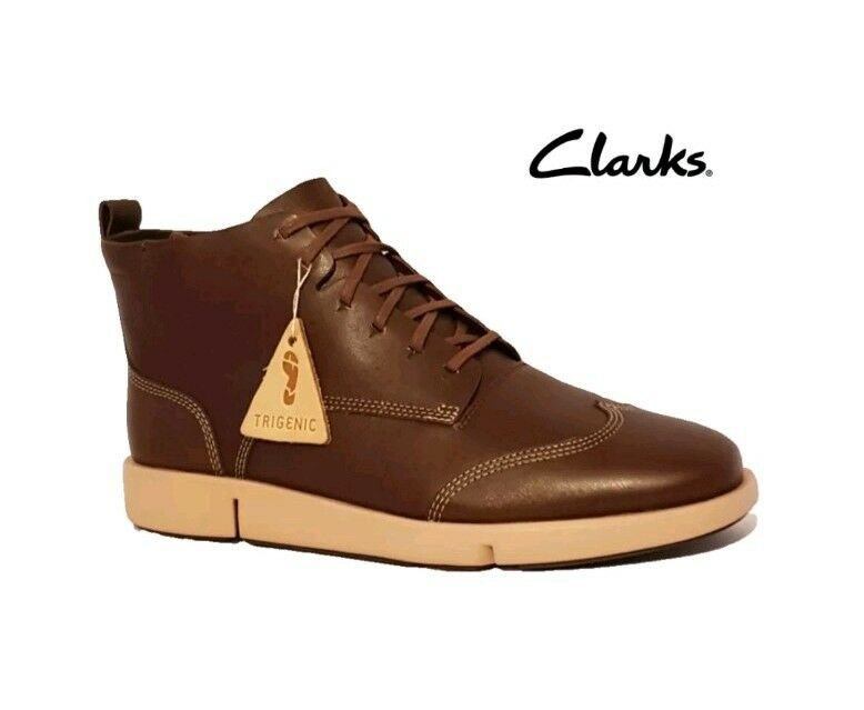 CLARKS TRI NOLA NOLA NOLA TAN BROWN GENUINE LEATHER ANKLE Stiefel Schuhe FLEX3 SOLES LADIES dafc21