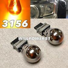 Reverse Backup Light T25 3156 3456 Amber Silver Chrome Bulb K1 For Ford A