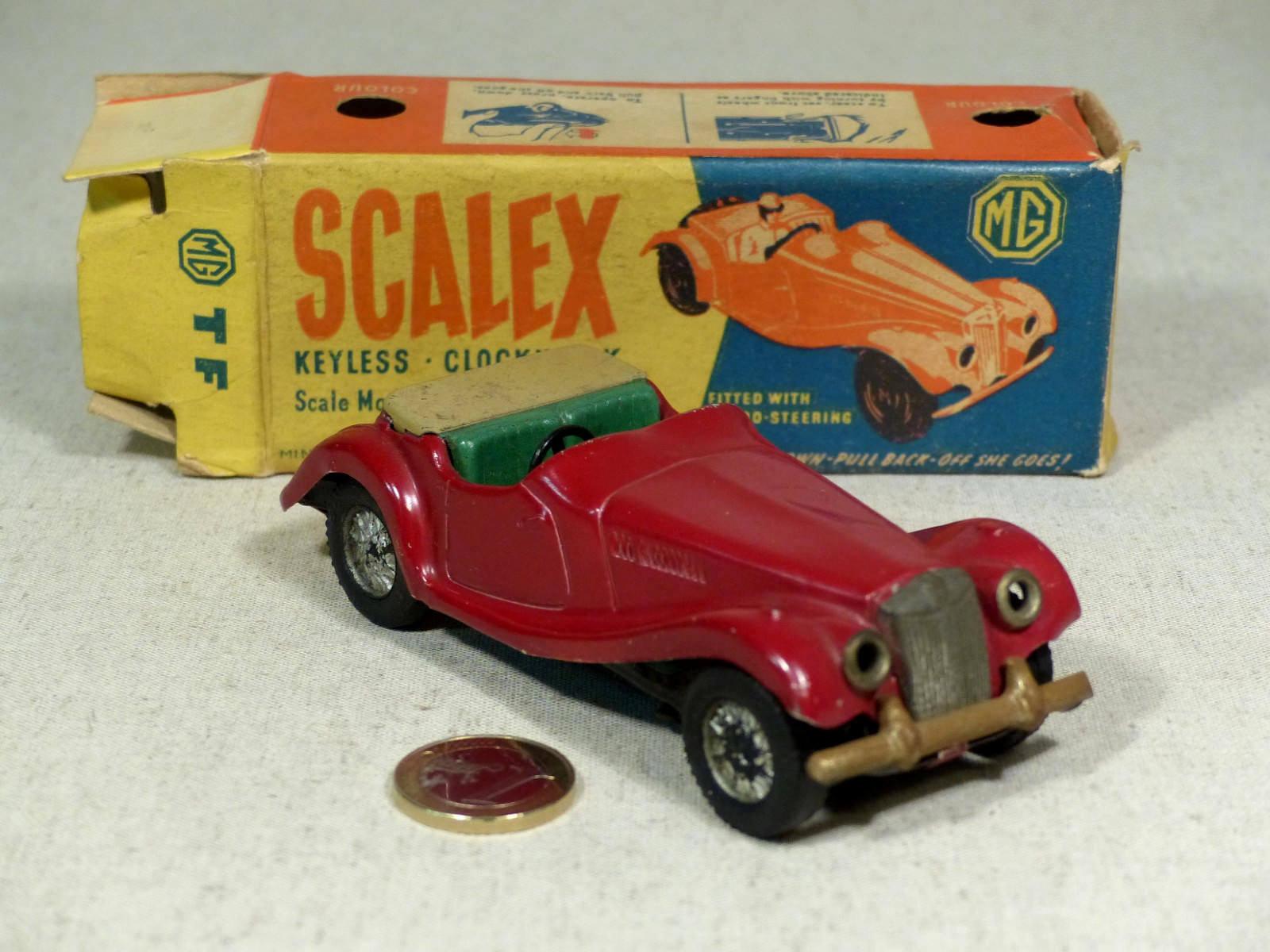 Scalex minimodels tin plate pre scalextric mg tf clockwork with box