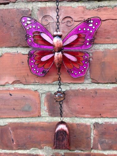 Butterfly Windchime with Cowbell  Pink Fountasia £7.99 NORM £9.99