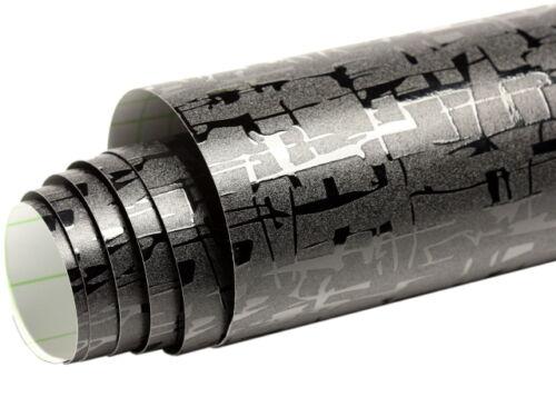 Neu Model Schwarze Design Folie 152 cm x 300 cm mit Luftkanäle 6234