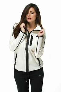 adidas-Womens-White-Windbreaker-Full-Zip-Hooded-Tech-Running-Fitness-Jacket-AA09
