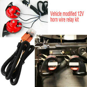 12V-Horn-Wiring-Harness-Relay-Kit-For-Car-Truck-Grille-Mount-Blast-Tone-Horns-yi