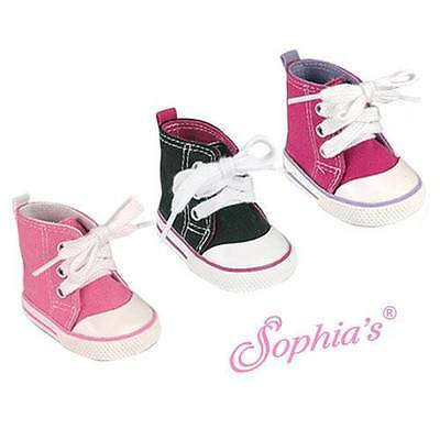 "LIGHT PINK Hi Top Sneaker Canvas fit American Girl 18"" doll shoes"