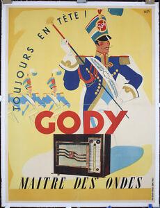 Original-Vintage-1930s-French-Gody-Radio-Poster-Lot-35