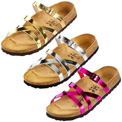 Betula Stripes Cross Birko Flor Shoes Ladies Sandals Mules Slippers | eBay