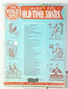 Details about Vtg The Worlds Best Album of Old Time Songs Sheet Music 1940  Alouette Billy Boy