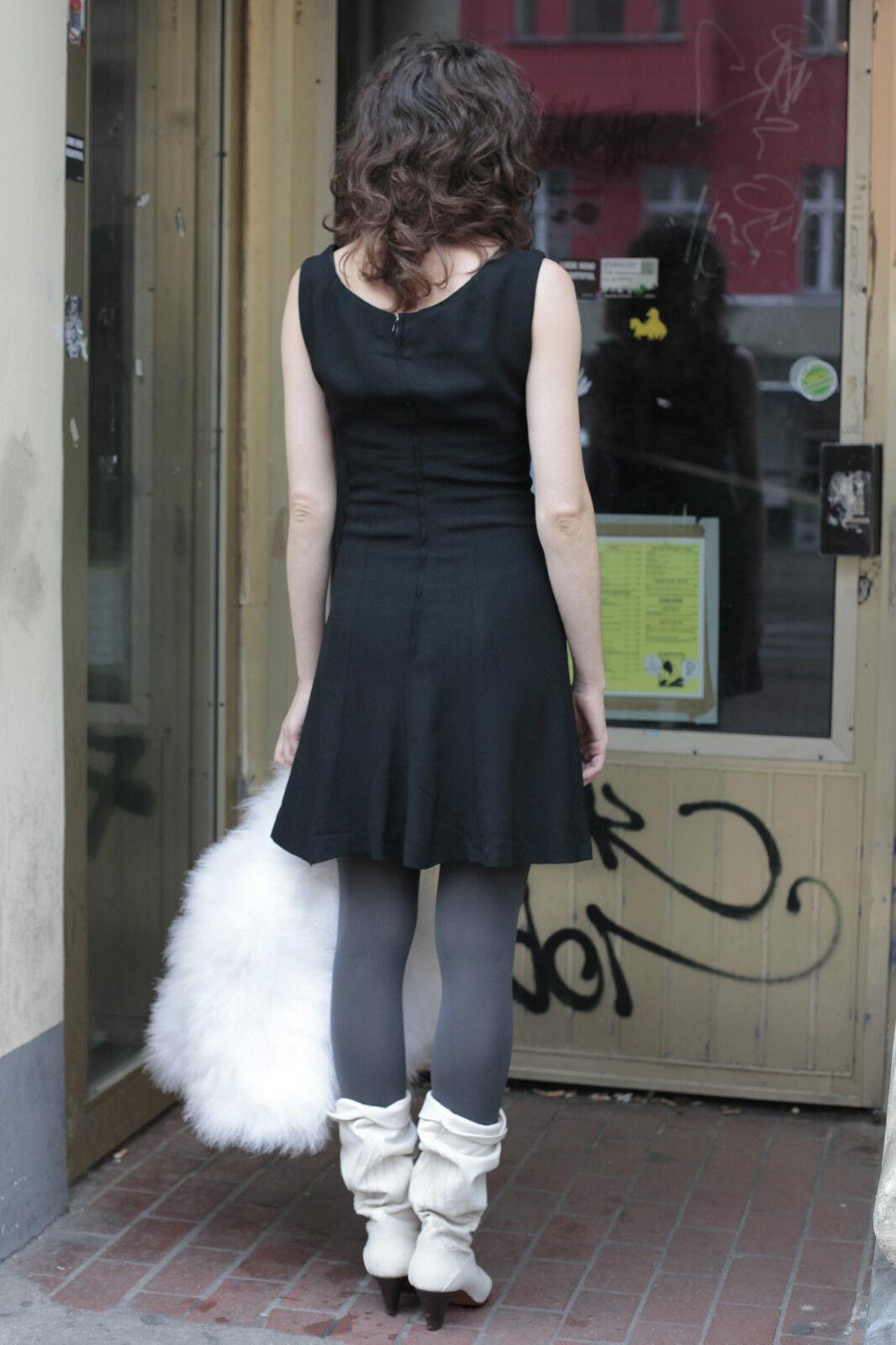 Delizioso abito dress nero nero nero nero 60er True Vintage 60´s donna elegant 6a5ee9