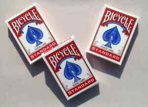 Standard-Bicycle-Rider-Back-Poker-Playing-Cards-3-Decks-Red