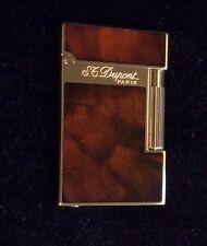 ST DUPONT ATELIER LINGE 2 LINE 2 LIMITED EDITION LIGHTER DARK BROWN LACQUER GOLD