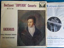 BEETHOVEN - EMPEROR CONCERTO (5) LP VPO Backhaus UK Decca 1st WBG ED1 SXL