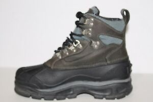 10f79772b8e Details about Donner Mountain Men's Glacier Black & Grey Leather Winter  Hiking Boots Size 7 M