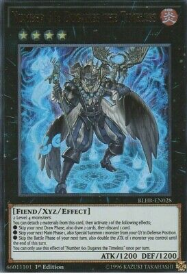 BLHR-EN028 Ultra Rare NM Yugioh 1st Number 60: Dugares The Timeless