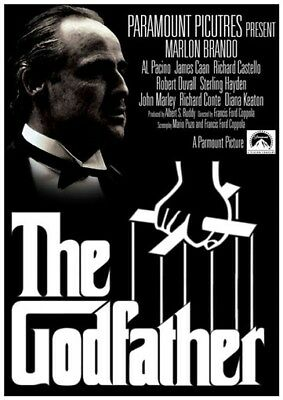 Vintage 1972 The Godfather Movie Poster from Spain