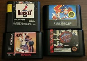 Sega Genesis Games NHLPA Hockey 93 Paperboy Sonic 2 NBA Jam Tested Lot Of 4