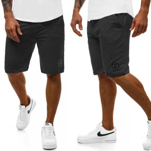 Pantaloni Corto Pantaloni Sportivi Jogging Fit Tinta Pantaloncini Sport Uomo OZONEE mad//2923