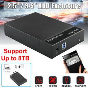 Il-box-esterno-per-disco-rigido-SATA-da-2-5-034-3-5-034-USB-3-0-supporta-UASP-fino-a-8