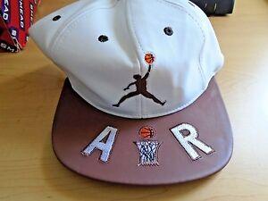 612bedacb2bf44 Air Jordan True Snapback Hat White   Brown Cap Hat Adjustable