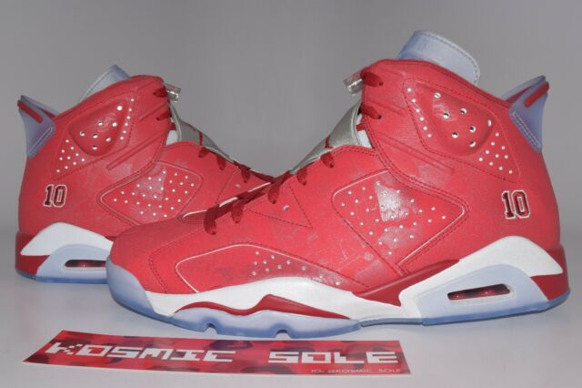 detailed look cd0fa 2f6c7 Nike Air Jordan VI Retro 6 Slam Dunk Varsity Red White 717302-600 Size 14