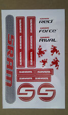 Brand New SRAM Red Force Rival Frog Stickers made from high quality vinyl