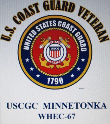 USCGC ESCANABA  WHEC-64* CUTTER U.S.COAST GUARD VETERAN EMBLEM*SHIRT