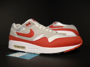 6c618cf0b1 2009 NIKE AIR MAX 1 QS WHITE SPORT RED COOL GREY BLACK DAY 326 ...