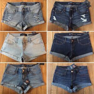 NWT-Hollister-low-rise-Womens-Blue-Jean-Denim-Shorts-sz-3-5-regular