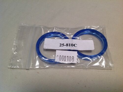 FSA Headset spacers 5mm translucent blue plastic for 1 1//8 pair