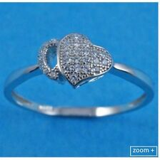 sterling silver 925 Double hearts ring