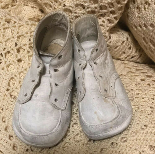 Antique Baby Shoes White