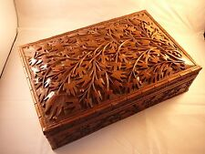 Antique Carved Wooden Box