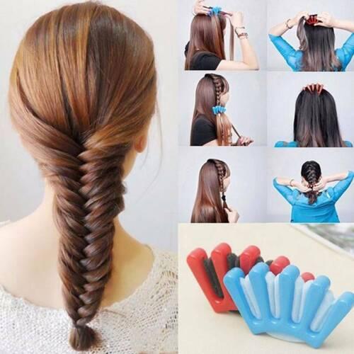 Fille éponge cheveux tressé Métier à Tresser Twist Styling Braid Holder Clip tresse Outil Bricolage