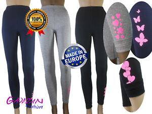 Girls-Winter-Thick-Warm-Glitter-Decorations-Full-Leggings-Age-6-7-8-10-11-12-14