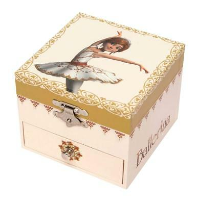 Musical Toys Punctual Trousselier S20111 Music Box With Drawer In Colors With Balerina