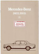 Mercedes-Benz 240D 300D W123 Diesel Saloon 1982-85 UK Market Sales Brochure