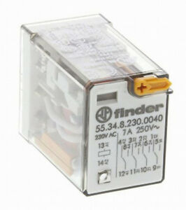 Finder-55-34-8-230-0040-Relais-4-RT-Enfichable-bobine-230Vac