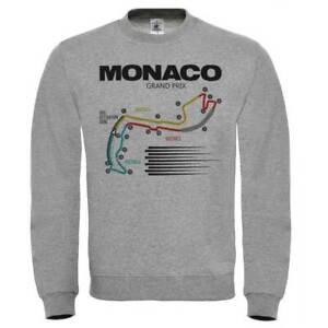 Felpa Circuito Monaco, Disegno Pista Formula 1, Montecarlo GP ...