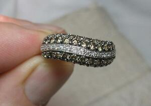 Image Is Loading Le Vian Chocolate White Diamond Ring 1 1ct