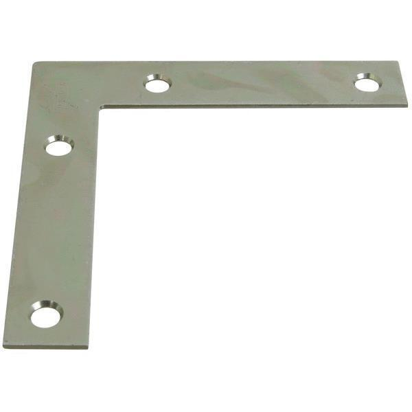 100-Steel Zinc Plated 3 4  Wide X 4  Long Flat Screen Corner Angle Iron N266569