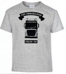 t shirt volvo fh powerliner camion camionneur lkw ebay. Black Bedroom Furniture Sets. Home Design Ideas