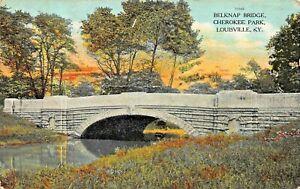 LOUISVILLE-KENTUCKY-BELKNAP-BRIDGE-IN-CHEROKEE-PARK-1908-PSMK-POSTCARD
