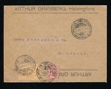 FINLAND 1919 ADVERTISING ENVELOPE REVERSIBLE ARTHUR GRANBERG