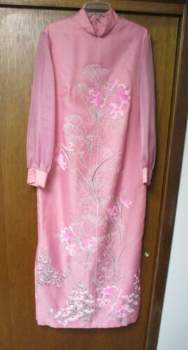 Vintage Alfred Shaheen Hawaii Dress, Pink Floral