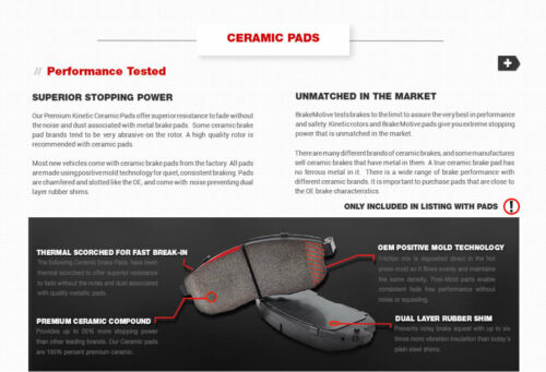Front and Rear Ceramic Brake Pads For 2004 2005 2006 2007 2008 CHRYSLER PACIFICA