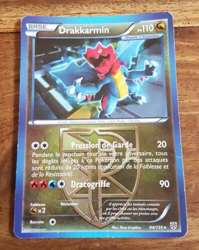 Pokémon card drakkarmin pv 110 94//135 black white plasma storm vf