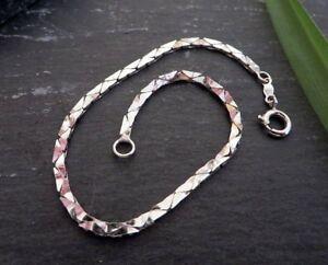 Huebsches-835-Silber-Armband-Jugendstil-Art-Deco-Gazelle-Cobrakette-Unisex-Design
